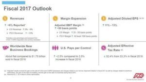 Source: 2Q Fiscal 2017, ADP Earnings Call & Webcast - ADP Fiscal 2017 Outlook
