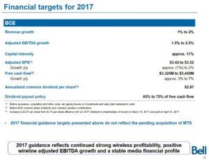 BCE - 2017 Financial Guidance