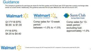 Wal-Mart 2018 Guidance