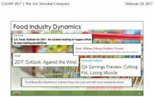 SJM - Food Industry Dynamics Feb 22 2017 presentation