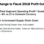 GIS - Change to Fiscal 2018 Profit Outlook