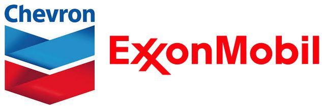CVX XOM logos